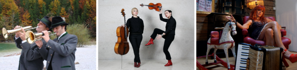 v.l.n.r.: Stangl Blos, Catch-Pop String-Strong, Doris Kirschhofer