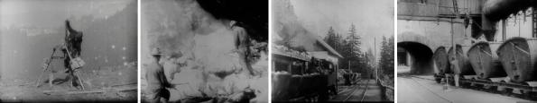 A Day in An Austrian Iron Mine (Die Gewinnung des Eisens am steirischen Erzberg in Eisenerz) A 1911