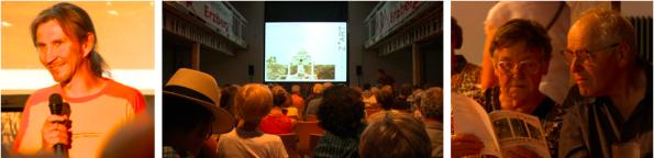 v.l.n.r.: Wolfgang Stritzinger, Publikumsimpressionen kurz vor dem Filmstart (Fotos: © eisenerZ*ART)