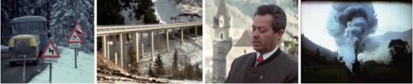 Filmstills aus Eisenerz: Präbichlstraße (ORF) und Dampfsymphonie am Erzberg