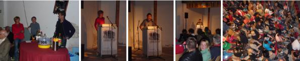 v.l.n.r.: Mobile Bar von Elmar, Gerhild Illmaier, Wolfgang Stritzinger, Publikum