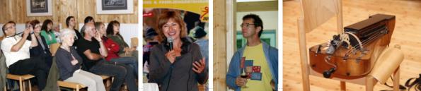 v.l.n.r.: Publikum, Gil Illmaier, Matthias Loibner, Drehleier
