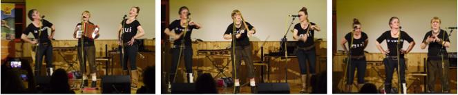 La vache qui crie (Ingrid Hammer, Ursula Häse, Ursula Scribano) vermittelten mit hohem Showfaktor Jodler aus verschiedenen Kulturkreisen