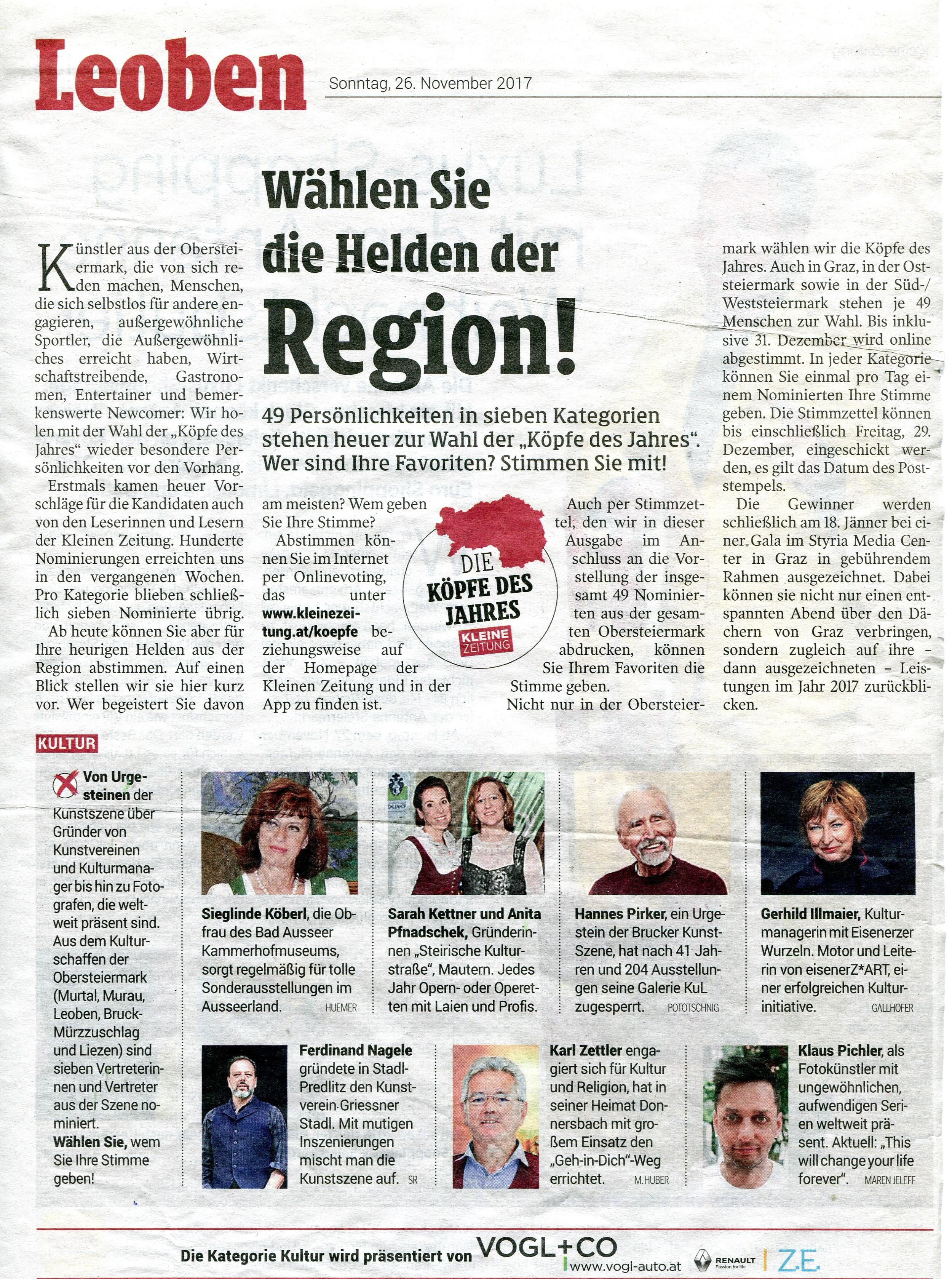 Kleine Zeitung 26.11.2017