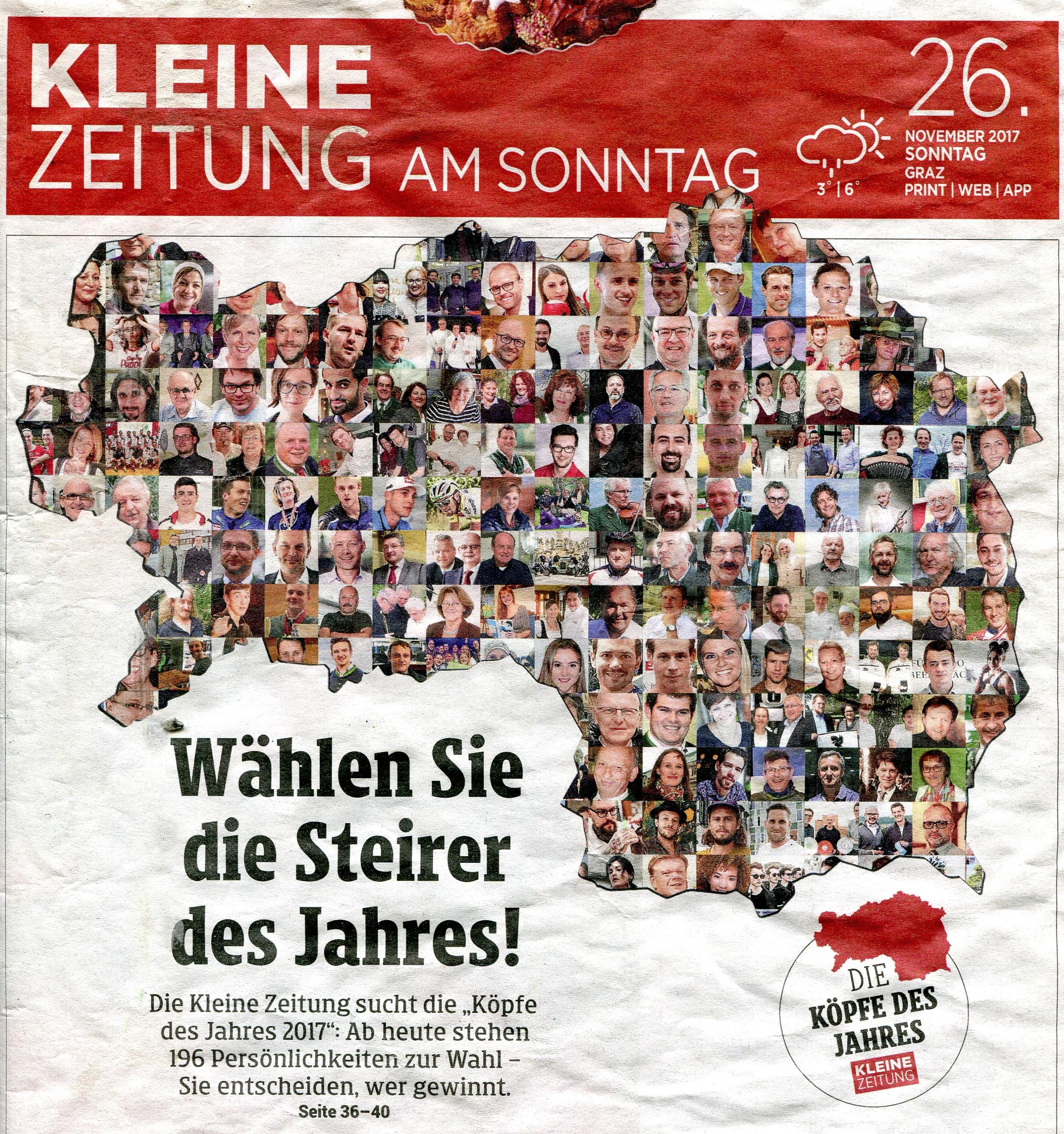 Kleine Zeitung_Titel 26.11.2017